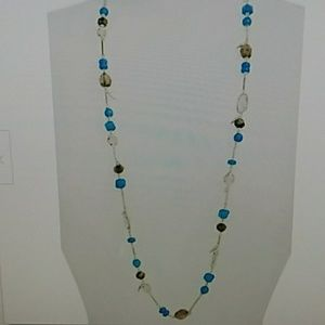 New Kendra Scott Ruth long station necklace teal